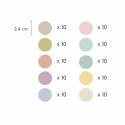 Pastel Dot Wall Stickers