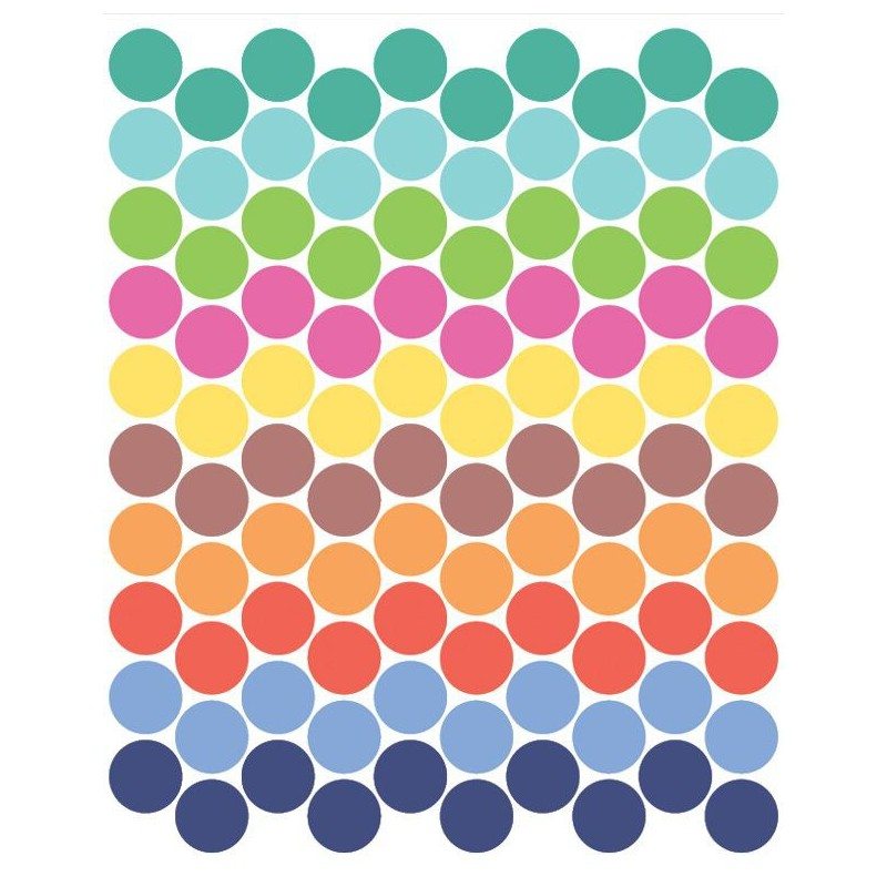 Bright Coloured Dot Stickers Tresxics Heylittlebaby