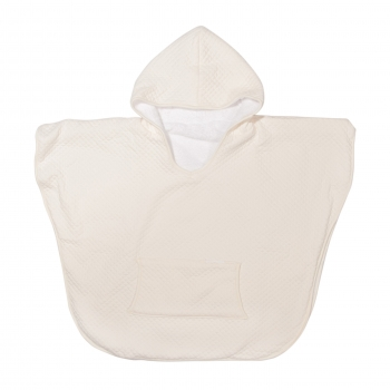 Kids Poncho - Diamond Ivory
