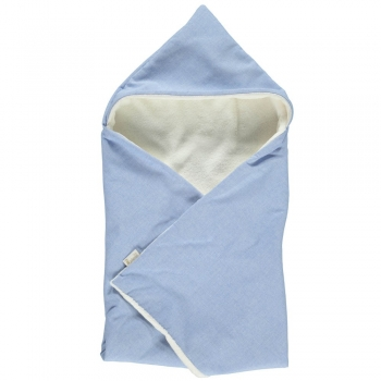 Chambray Hooded Blanket