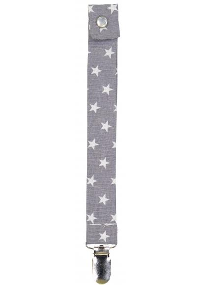 Grey Stars Pacifier String