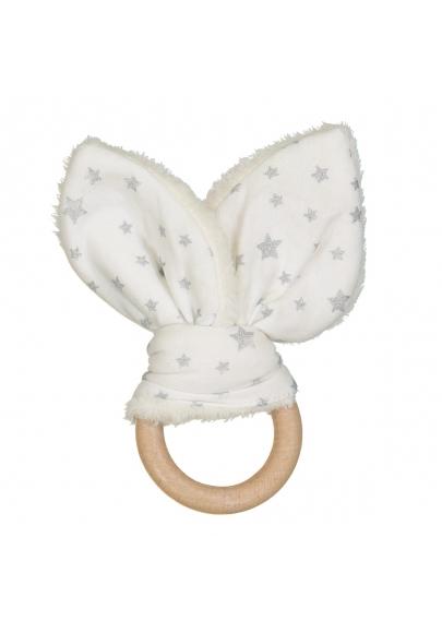 Silver Stars Bunny Teether