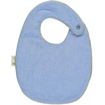 Chambray Snap Bib