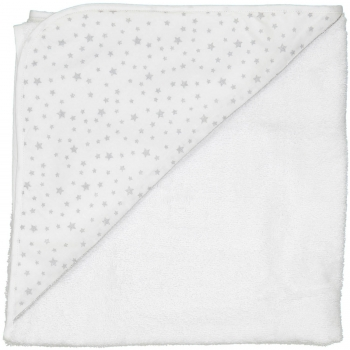 Silver Stars Hooded Bathing Towel