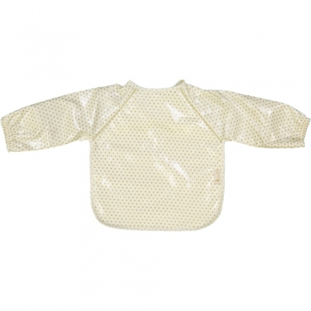 Golden Dots Coated Eating Bib with Long Sleeves