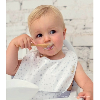 Golden Dots Coated Bib with Pouch