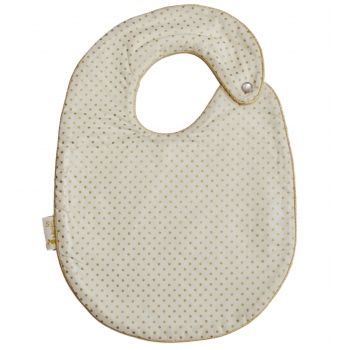 Golden Dots Snap Bib