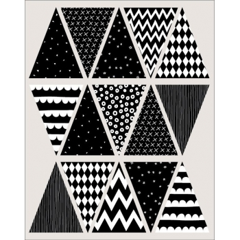 Black & White Bunting Stickers
