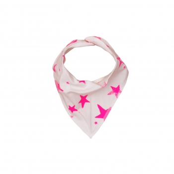 Neon Pink Stars Drooling Scarf