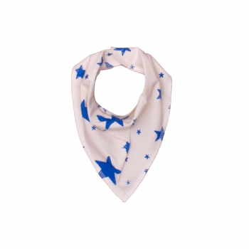 Blue Drooling Scarf