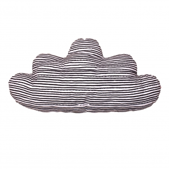 Black Stars & Stripes Large Cloud Pillow