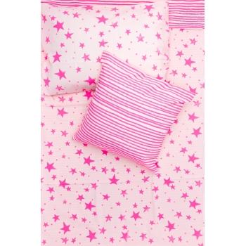 Neon Pink Stars & Stripes Kids Bedding