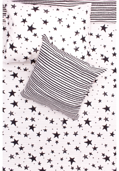Black Stars & Stripes Kids Bedding