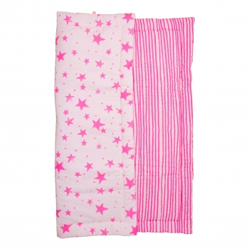 Neon Pink Stars & Stripes Playmat