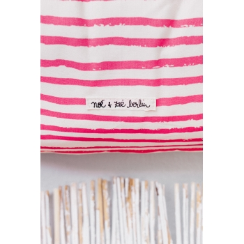 Neon Pink Stars & Stripes Medium Storage Basket