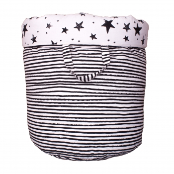 Black Stars & Stripes Large Storage Basket