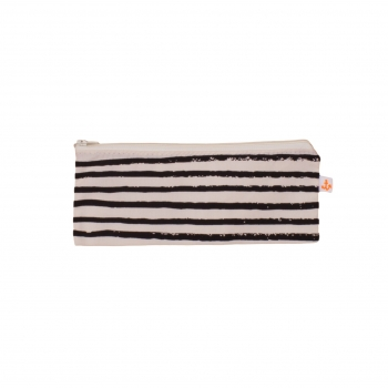 Black Stripes Small Pencil Case