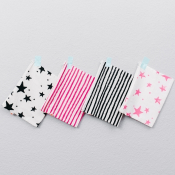 Neon Pink Stars Medium Pencil Case