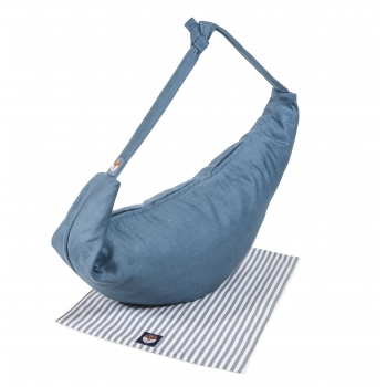 Indigo Blue 3-in-1 Linen Changing Bag