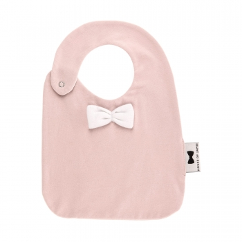 Pink Eating Bib with Bow Tie