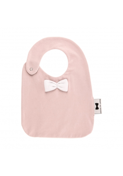 Pink with Bow Tie Eating Bib