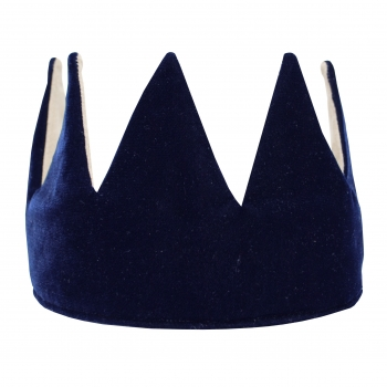 Navy Velvet Crown