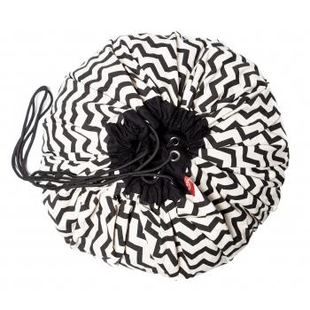 Black Zigzag Storage Bag & Playmat