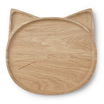 Wooden Plate Conrad - Cat
