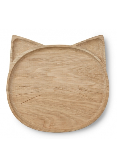 Wooden Plate Conrad - Cat  sc 1 st  Hey Little Baby & Wooden Cat Plate - Conrad - Liewood | HeyLittleBaby