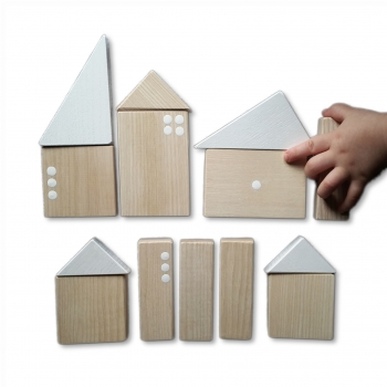 Wooden City Building Blocks