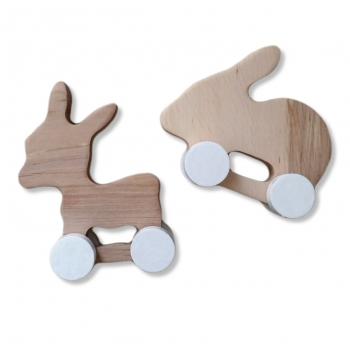 Wooden Donkey & Rabbit - Mini Set
