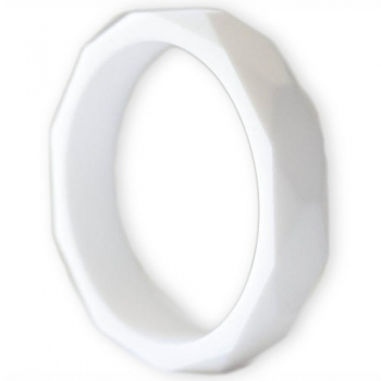 White Teething Bangle