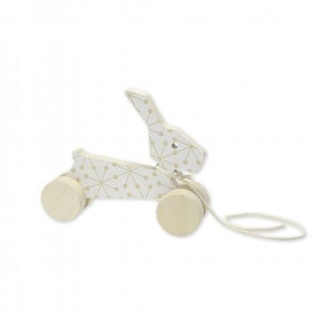 Pull Toy - Rick the Rabbit - White Eames