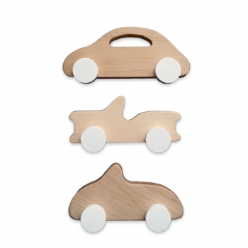 Wooden Old School Cars - Mini Set