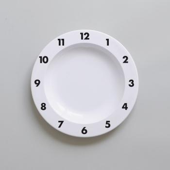 Black Dinner Time Plate