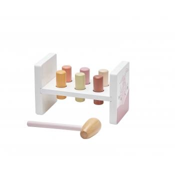 White & Pink Hammer Bench - Edvin