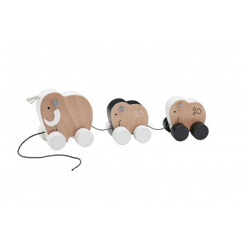 Pull Toy Mammoth Family