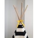 Stripe Teepee Yellow Trim