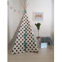 Cross Teepee Blue Trim