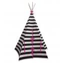Stripe Teepee Pink Trim