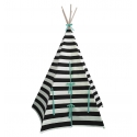 Stripe Teepee Blue Trim