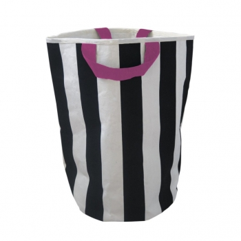 Stripe & Pink Storage Bag