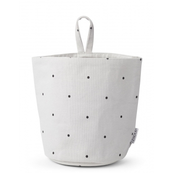 Ib Fabric Basket Classic Dot Dumbo Grey