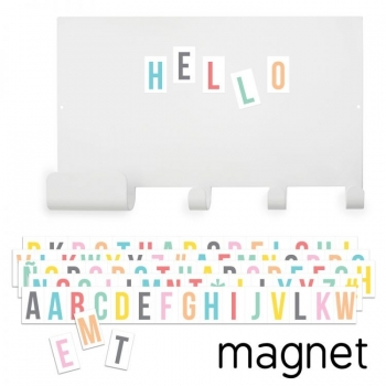 Magnet Board Hooks with Pastel Letters