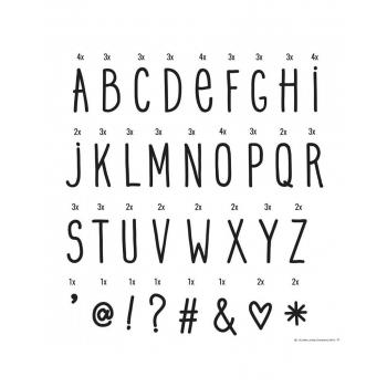 Lightbox letter set - Hand drawn