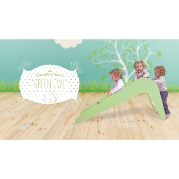 Indoor Slide - Green Owl