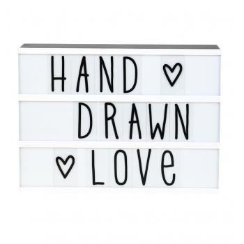 Lightbox letter set - Hand drawn