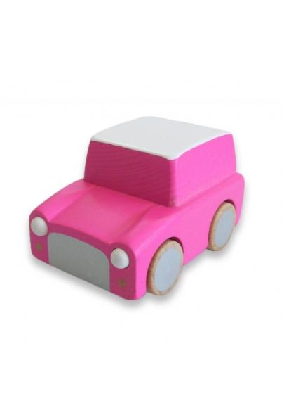 Kuruma Wooden Car Pink