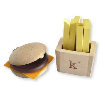 Hamburger & Fries Instrument Rattle Set