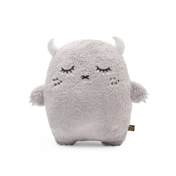 Grey Plush Monster Cushion Ricepuffy